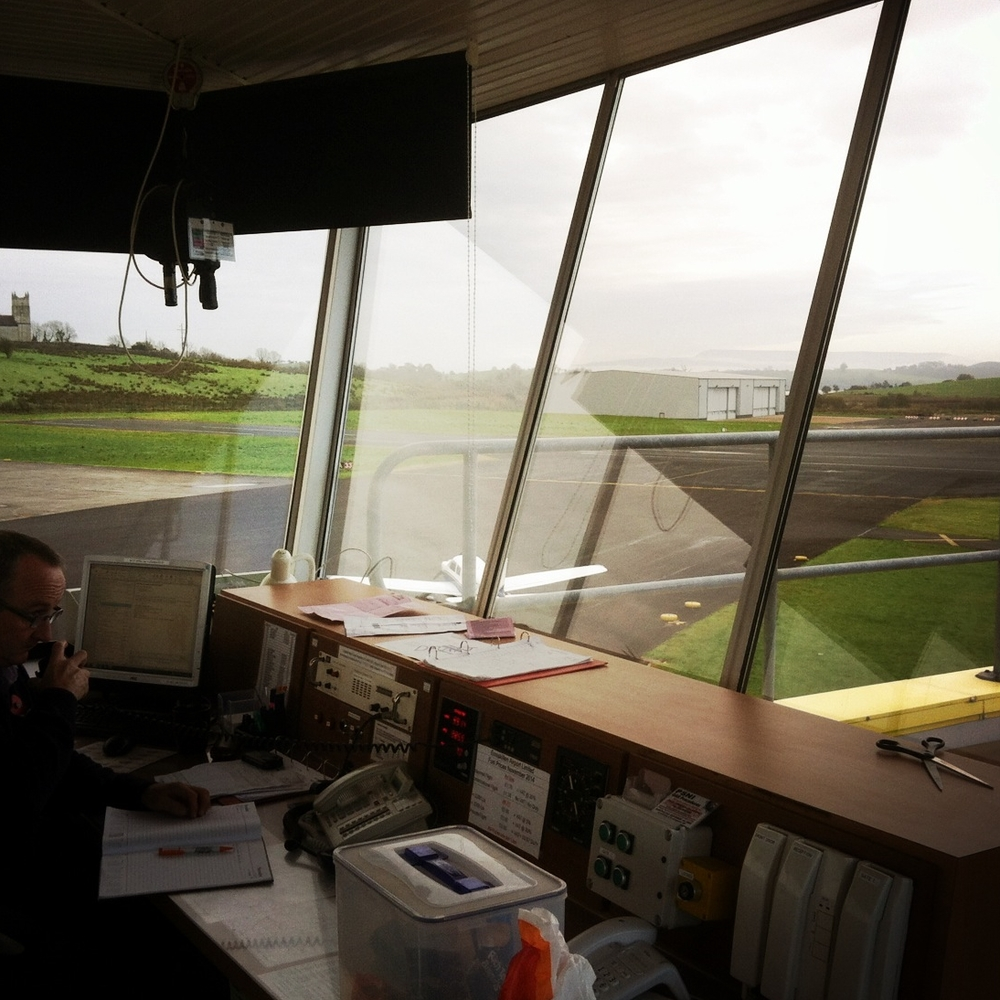 Noel Baskin at the Controls, St Angelo Airport, Enniskillen (Sound Ark 2014)