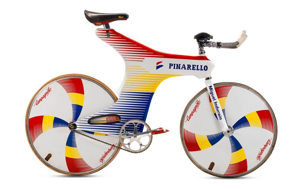 Miguel Indurain's Pinarello Espada Track and (later) Time Trial bike (1994)