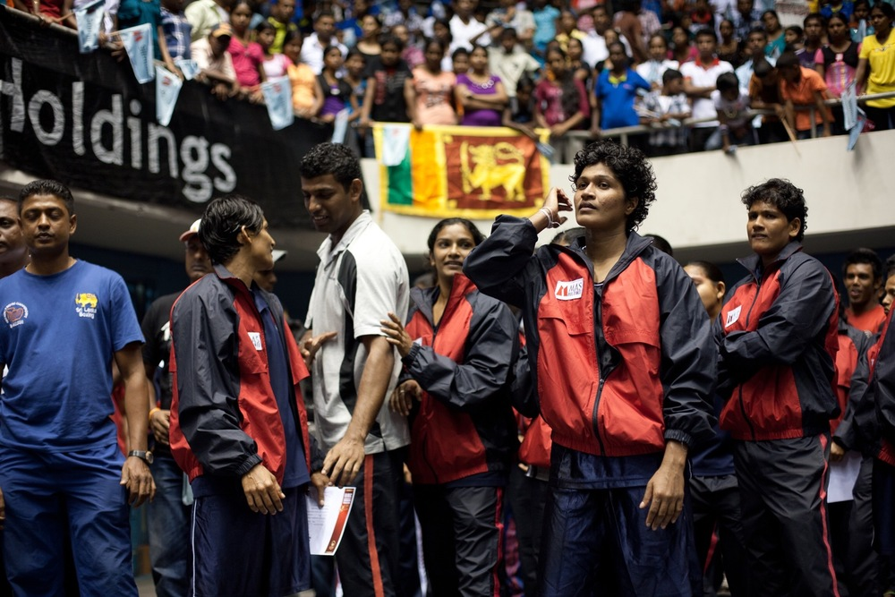 Nilmini Jayasighe and team awaiting results (© Lee Bazalgette)