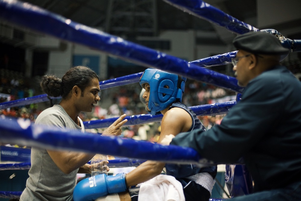 (L to R) Anuruddha Ratnayake, Anusha Kodituwakku and Dian Gomes (© Lee Bazalgette)
