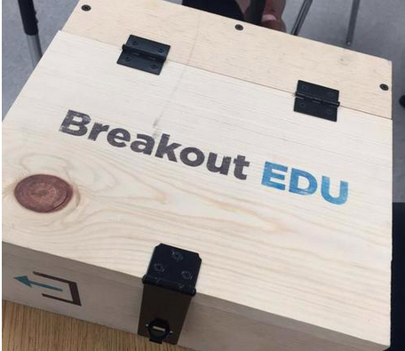 Breakout EDU is a gamified learning experience. Participants work together to solve puzzles and unlock the answer before time is up!