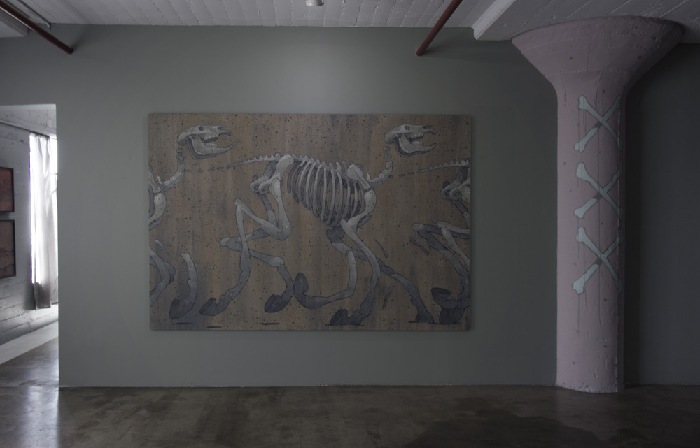 2014, Acrylic on raw linen 2 x 3 m   Paral·lel, Los Angeles