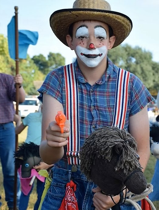 The resident rodeo clown.