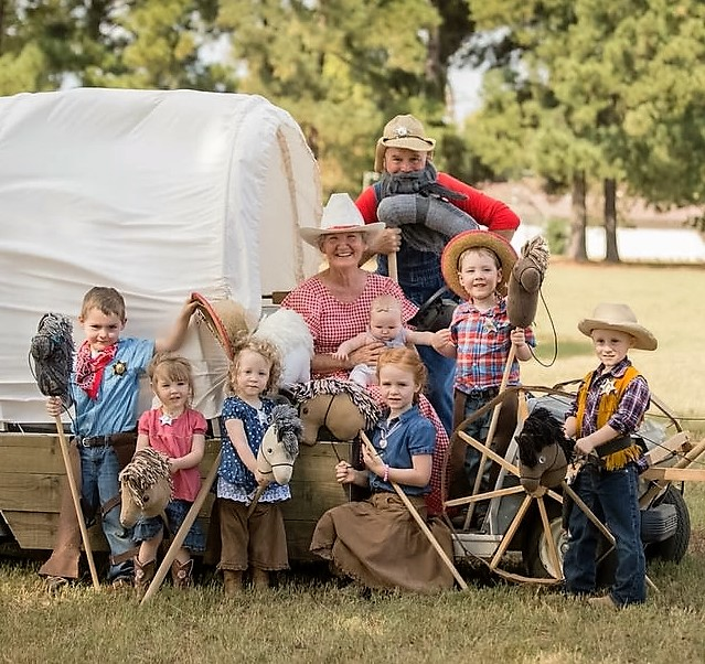 Stick Horse Rodeo buckaroos! The HUNDREDS of kids that participated in the rodeo rode their ponies hard delivering Pony Express Mail, barrel racing, and more.