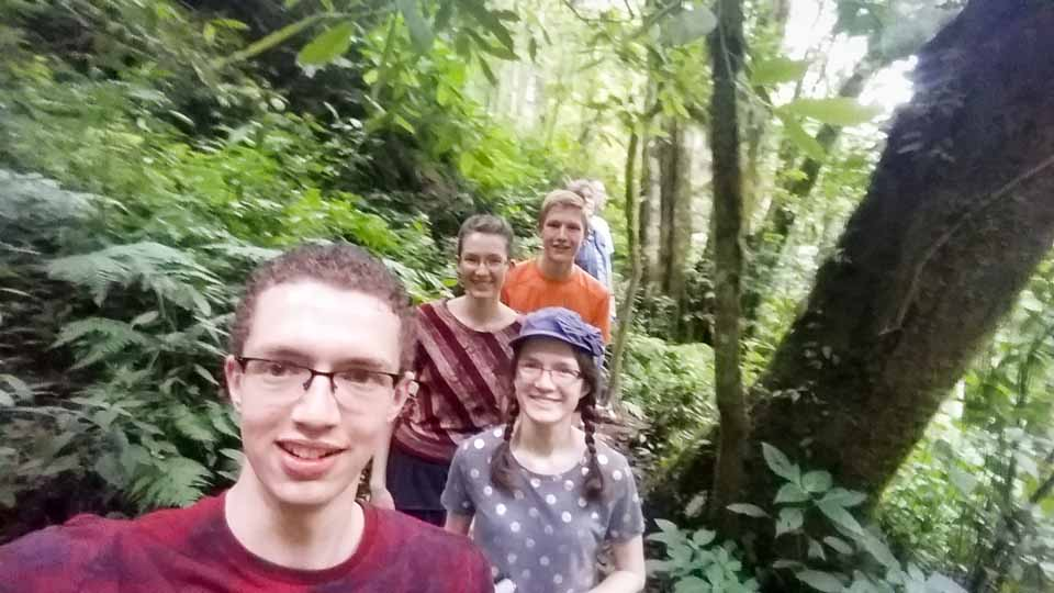 Morning jungle hike at the Quetzal Bird Sanctuary.