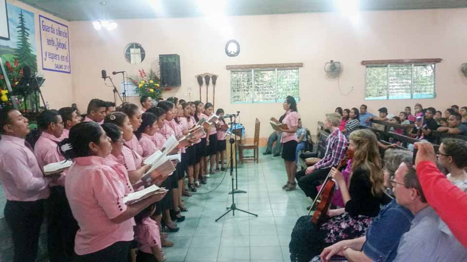 The church choirs were such a blessing as they sung from the heart in praise to the Lord.