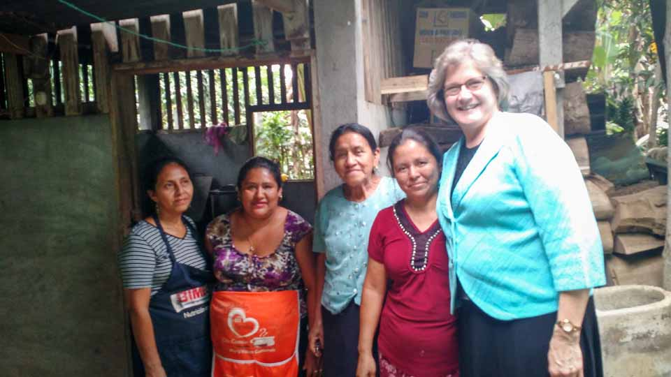 Visiting with the dear ladies that prepared one of our meals. The Guatemalans were so generous and treated us like royalty.