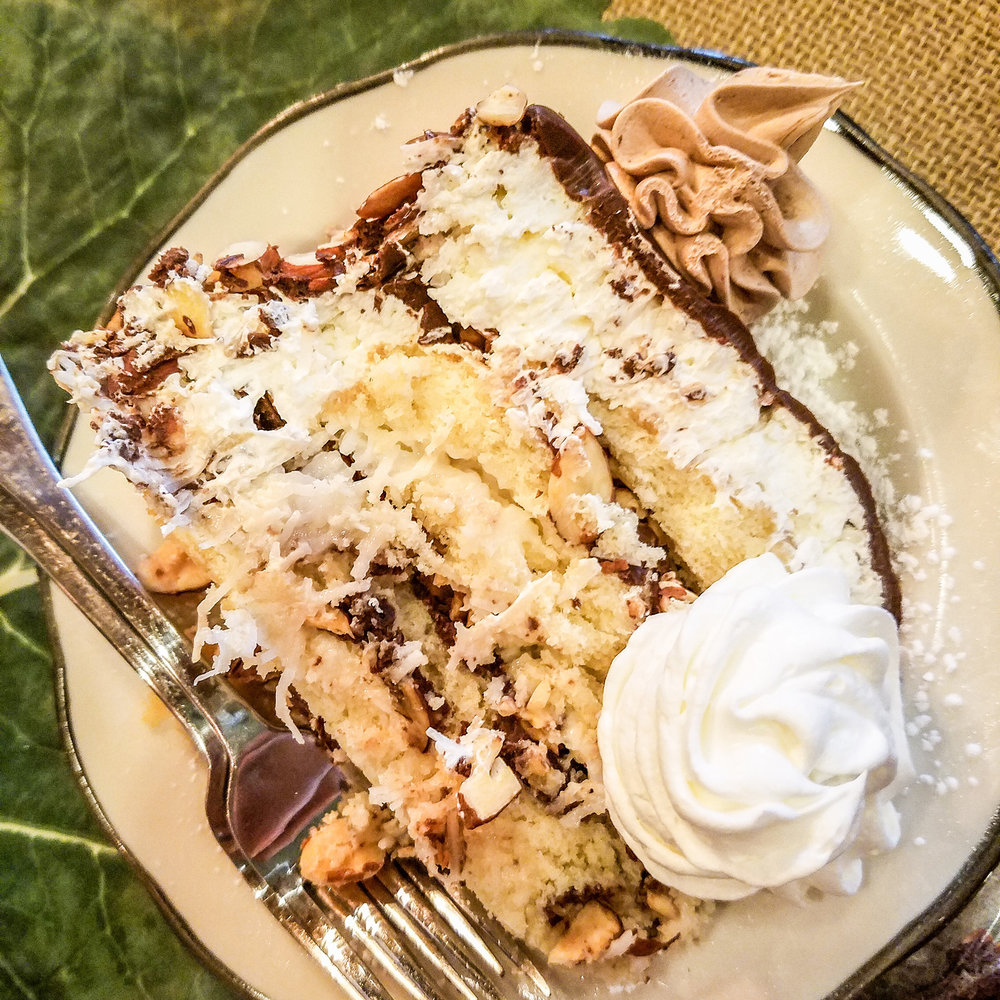 Almond Joy Cake - Coconut heaven!