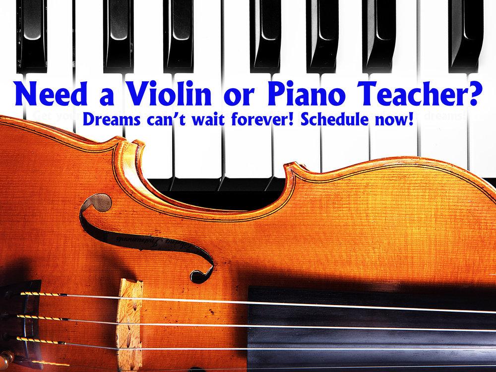Do You Need A Violin Or Piano Teacher