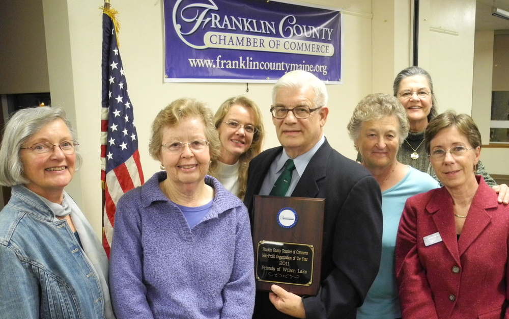 FOWL awarded 2011 Non-Profit of the Year by Franklin County Chamber of Commerce.  Nancy Prince, Mary Ryan, Martie Martin, Wynn Muller, Sandy Muller, Maggie Shannon, Susan Atwood.
