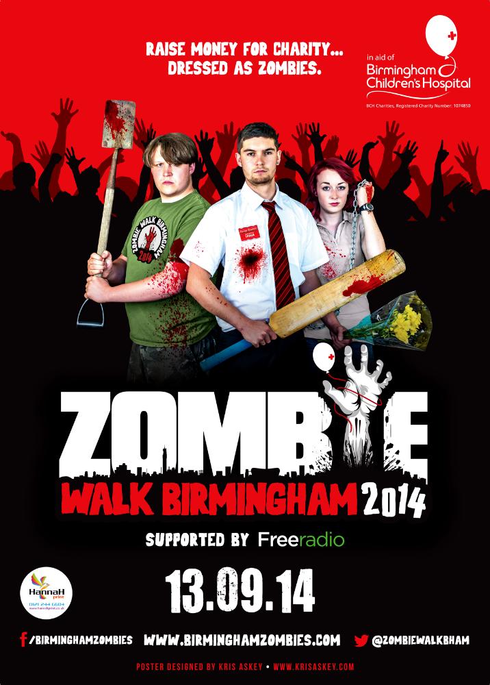 Zombie Walk 2014 Poster Design