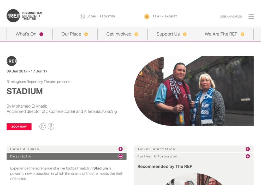 The REP Birmingham website