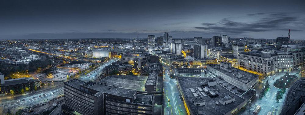 Birmingham Skyline seen from the McLaren Building.