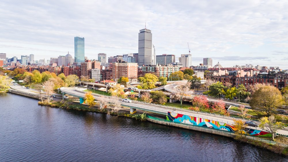 'Patterned Behavior' Mural at the Charles River Esplanade, Boston, MA 2017. Video by Now + There Inc.