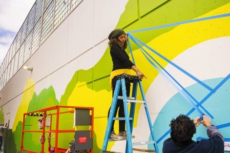 Latest mural in progress at Northeastern University! Check out the article here