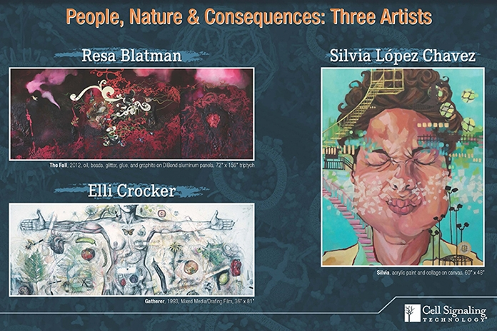 Three person Show, with artists Resa Blatman and Elli Crocker. 'People, Nature & Consequences: Three Artists' Exhibition at CST Tozer Road gallery, Beverly, MA. On view through May 2016.
