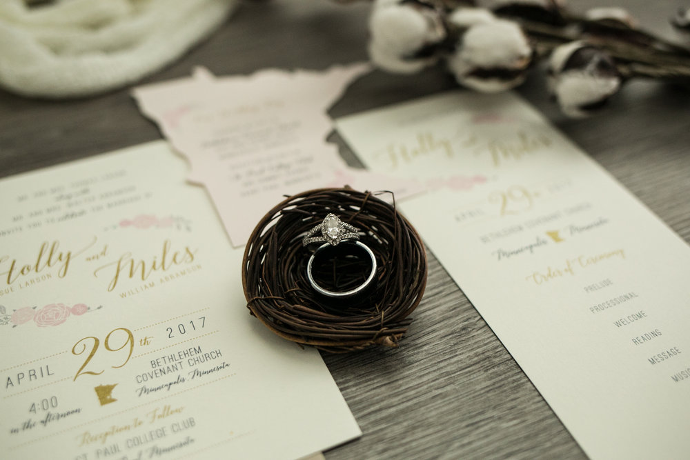 Minnesota Wedding Invitation photographed by Chelsea Bolling Minneapolis