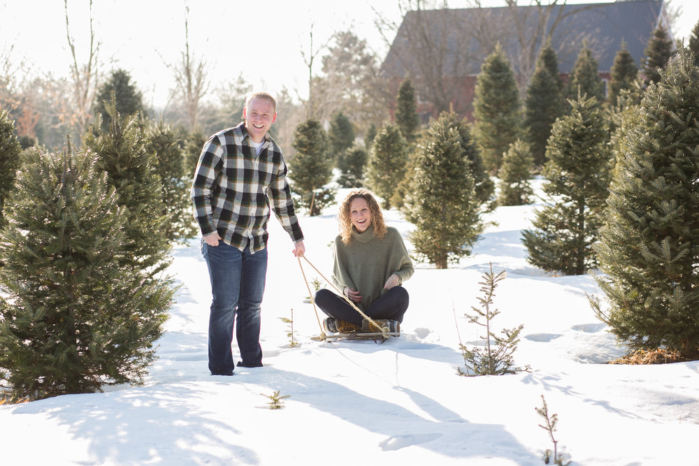 Winter Engagement Photographs Minnesota by Chelsea Bolling Photography
