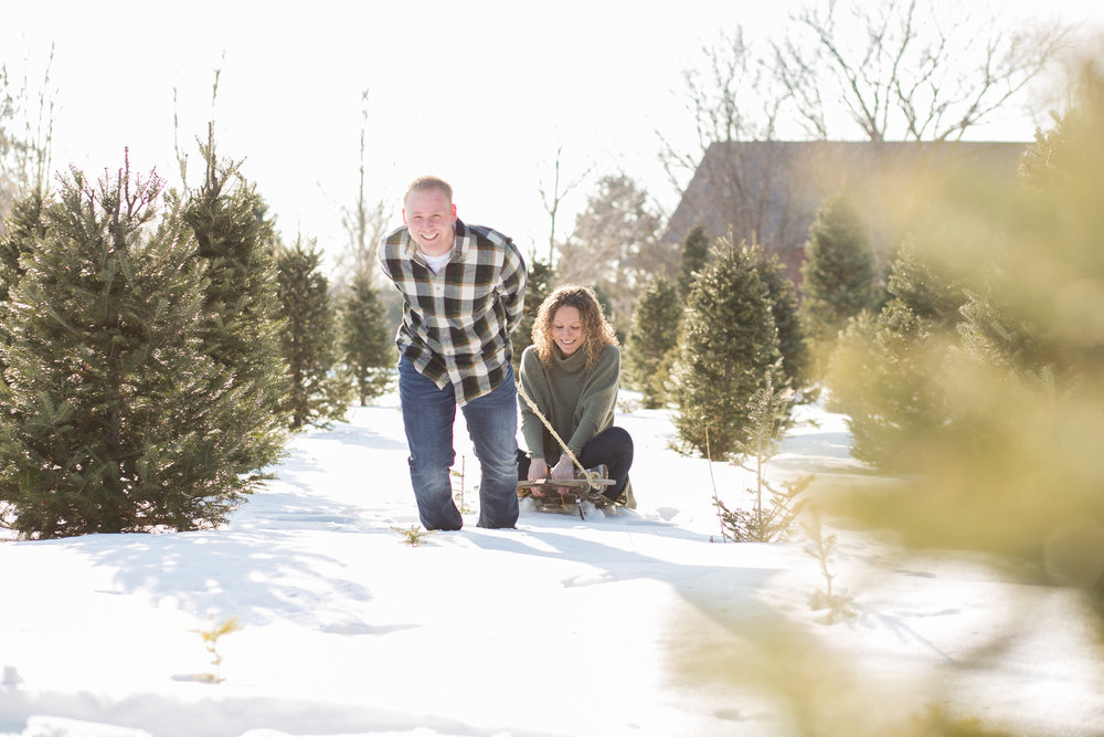 Fun Winter Engagement Photo Ideas by Chelsea Bolling Photography