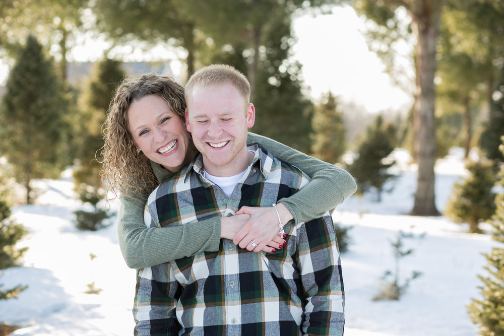 Winter Engagement Poses by Chelsea Bolling Photography