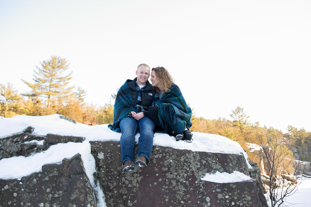 Taylor Falls Engagement Session by Chelsea Bolling Photography