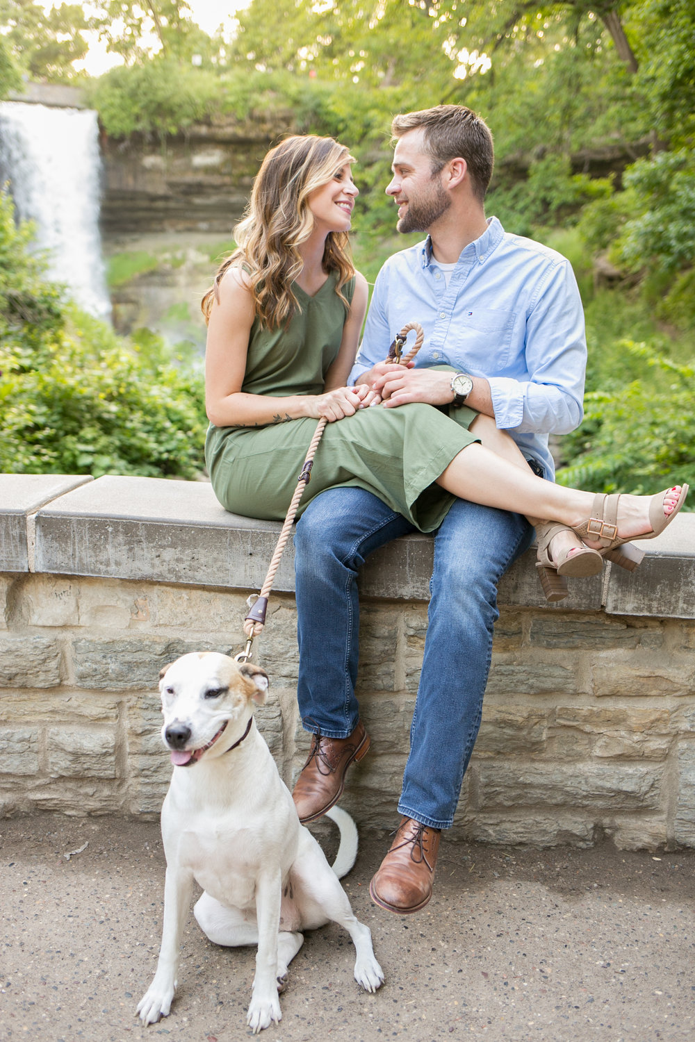 engagement photos with dog minneapolis