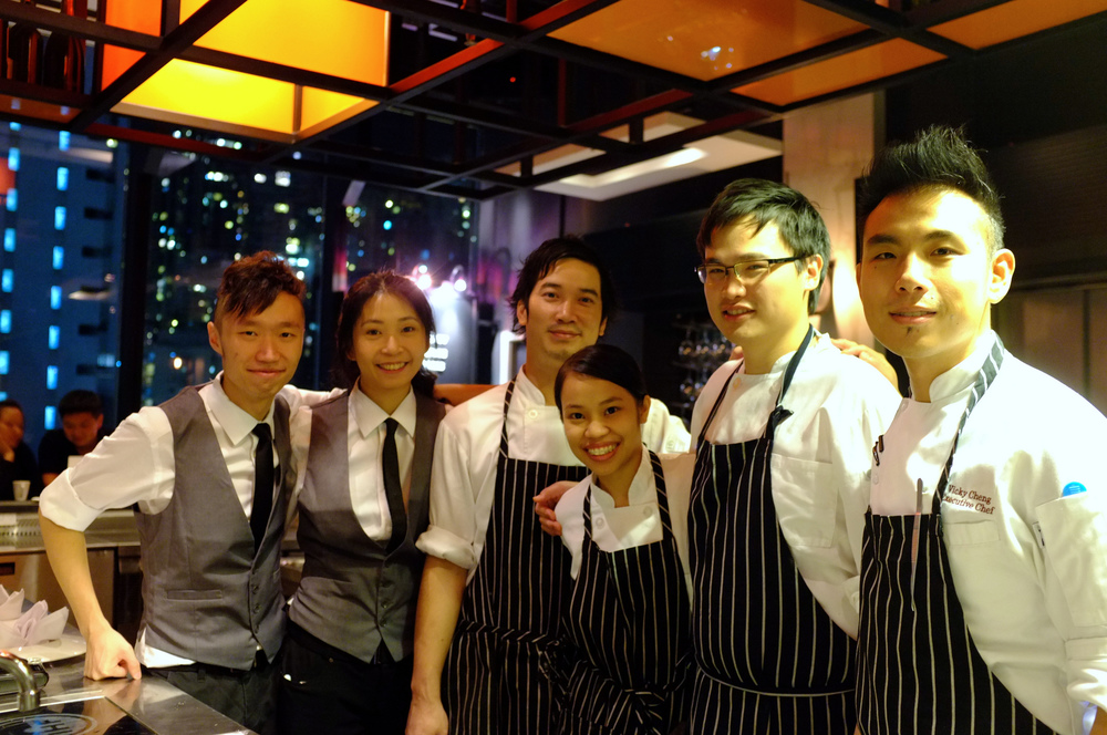Vicky Cheng (far right) and his crew