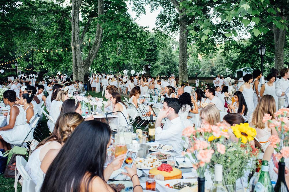 Picnic Popup White Party In Prospect Park Polka Dot Socks