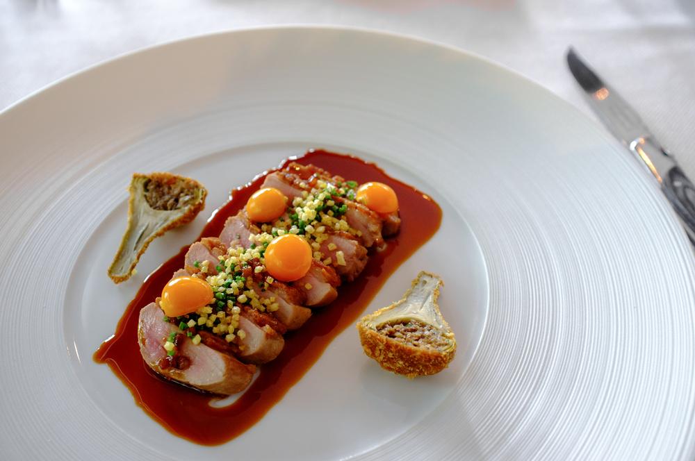 Peking Duck, Parsnip, Cherry, Verjus