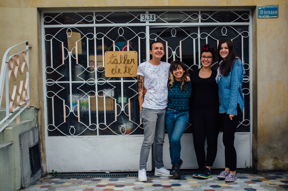 L-R: Gustavo Rodríguez, Lala Herrera, Tatiana Castillo and Beatriz Castrillón, four of the five partners at Taller de Té