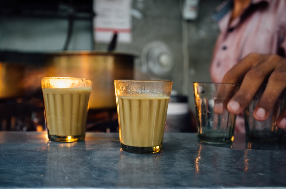 "A  cutting chai  is a generous ""half glass"" pour"