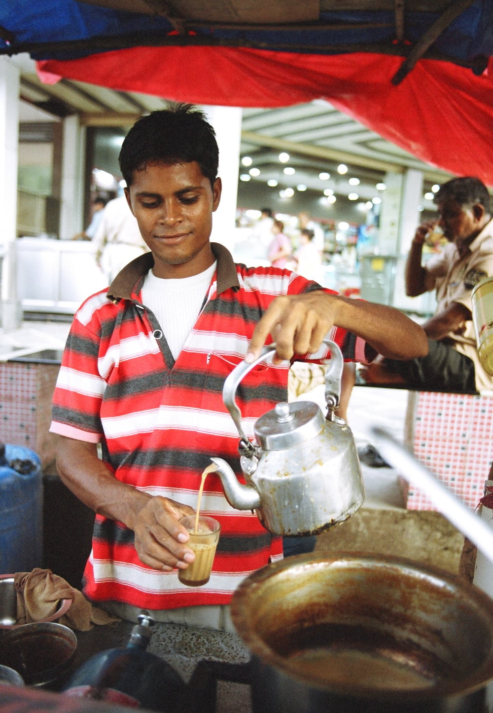 Chai  stall in Bombay