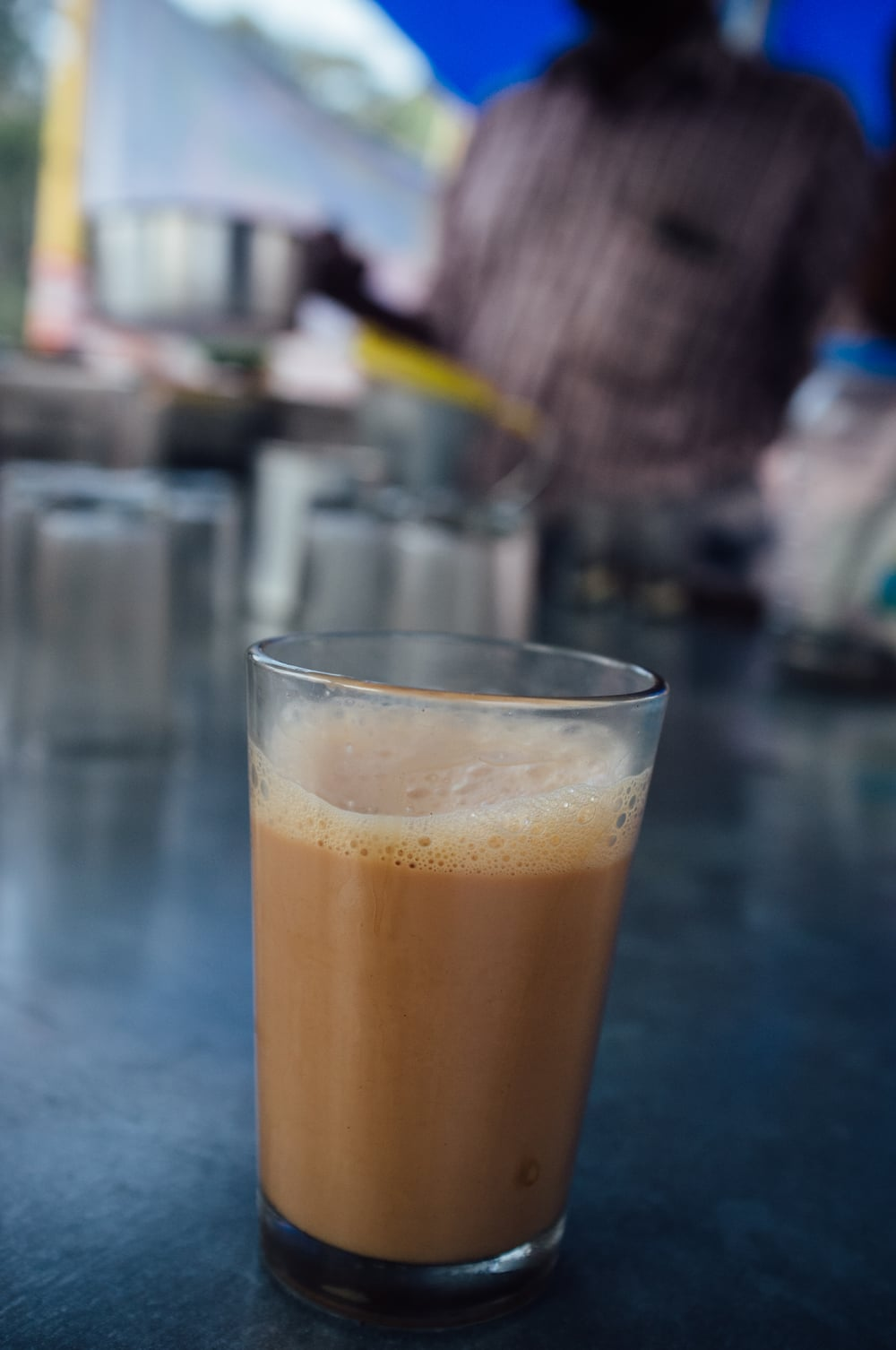 A wonderfully made Kerala chai during a morning walk in Kumarakom, Kerala