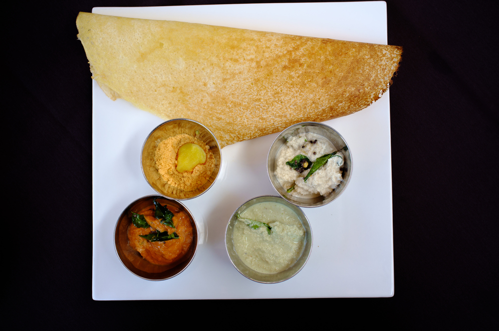 Dosas at restaurants tend to be paper-thin