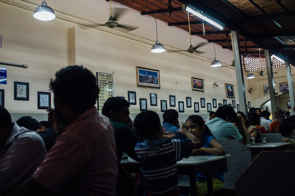 Vidyarthi Bhavan in Basavanagudi, always packed