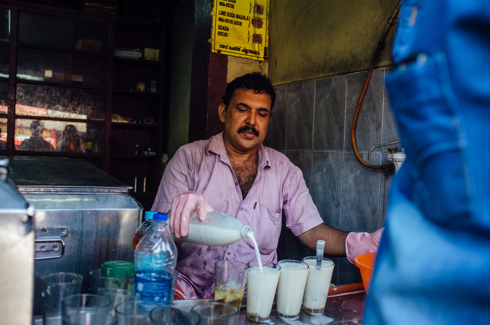 Bhaskarettante Kada  is a storefront-only operation. You quench your thirst on the road, standing.