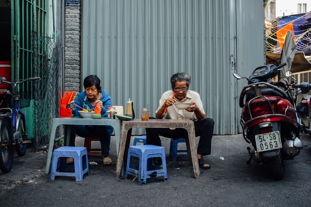 Saigon: streets are a natural extension to everybody's home