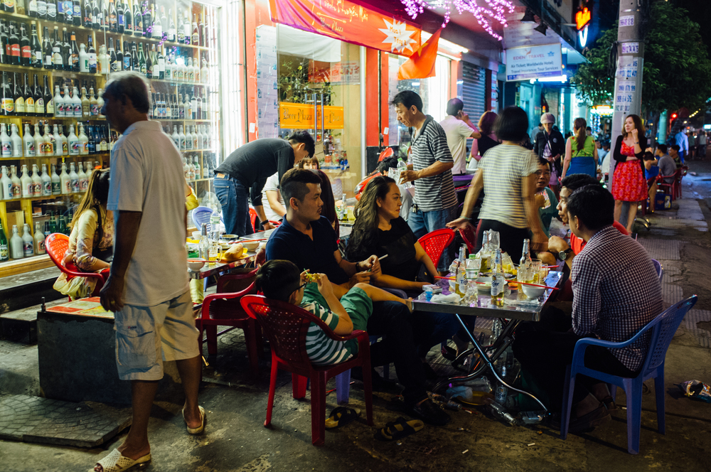 Saigon: You might think this sidewalk seating is an extension of the restaurant; you'd be wrong