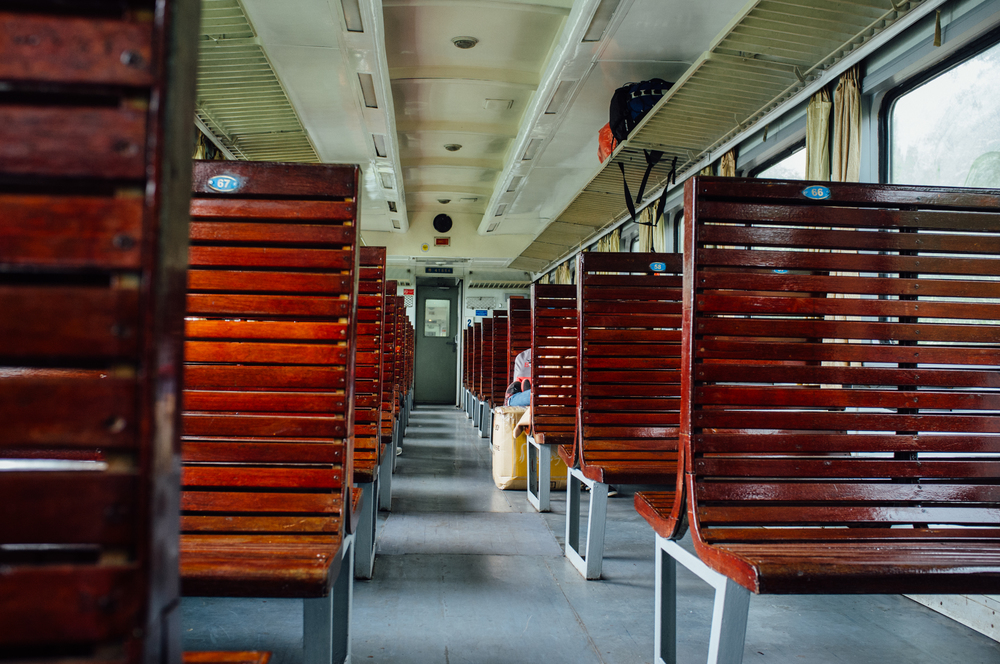 Hard seats on Vietnam Railways SE29