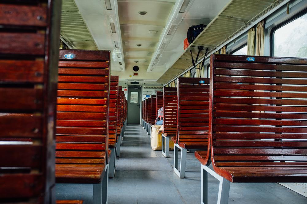Hard seats on Vietnam Railways SE29
