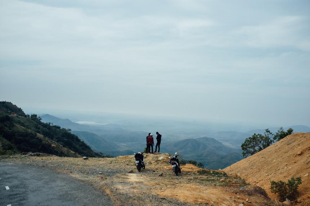 Plenty of vista spots on the drive down from Dalat