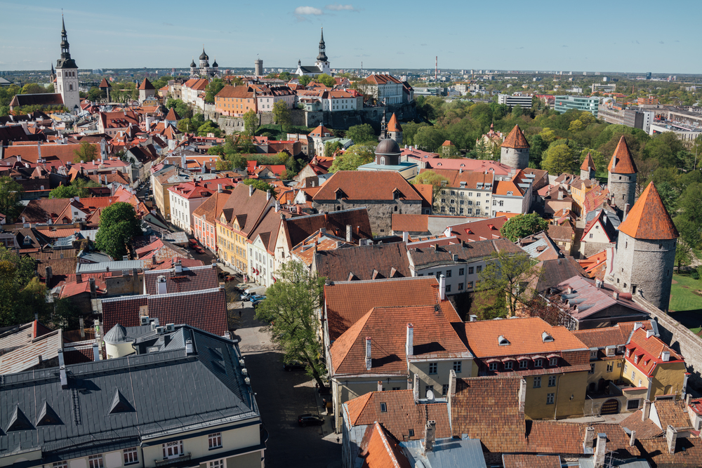 View of Old Town from St. Olaf's Church, Tallinn