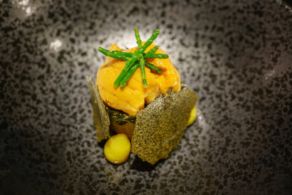 Bibimbap: Hokkaido Uni, Kimchi, Seaweed
