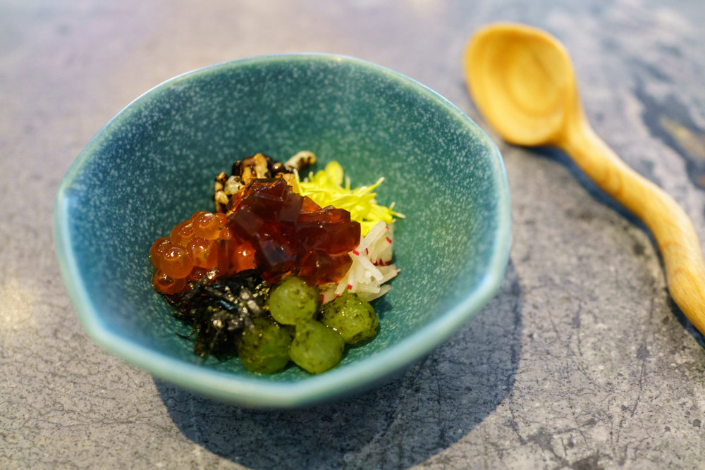"An amuse-bouche of ""bibimbap"""