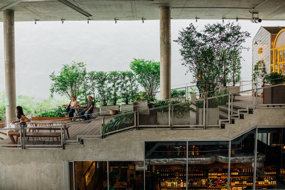 The Commons, a hip community mall with artisan cafes and eateries, in Thonglor