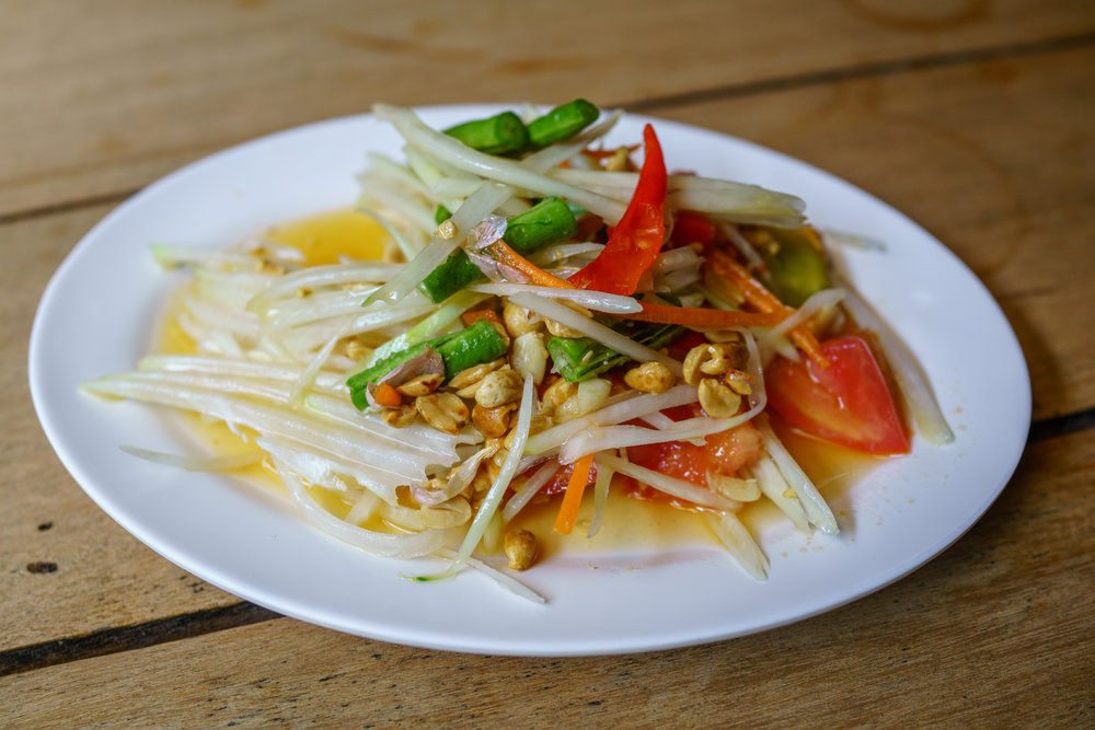 A spicy plate of  som tam