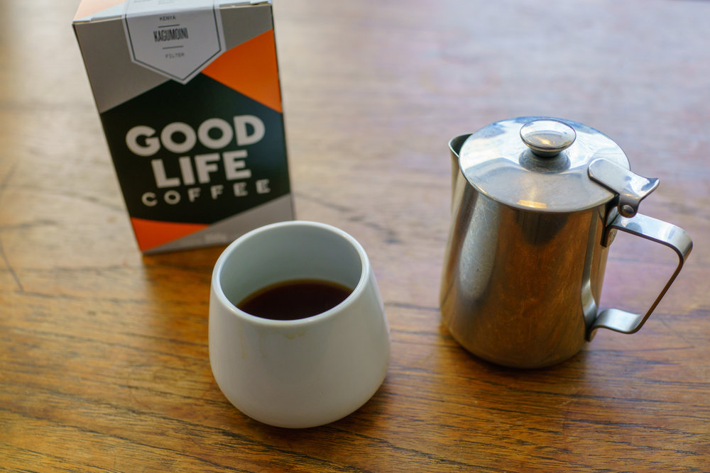 An excellent Kenya Kagumoini on Aeropress