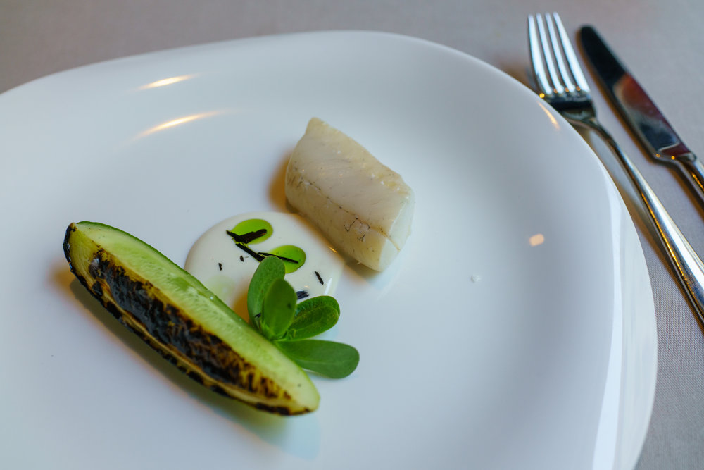 """Orpine, Pike Perch & Cucumber"""