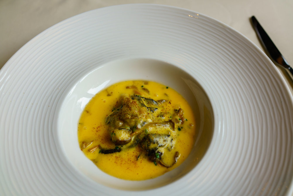 Scrambled Eggs with Wild Mushrooms at Dubravkin Put in Zagreb