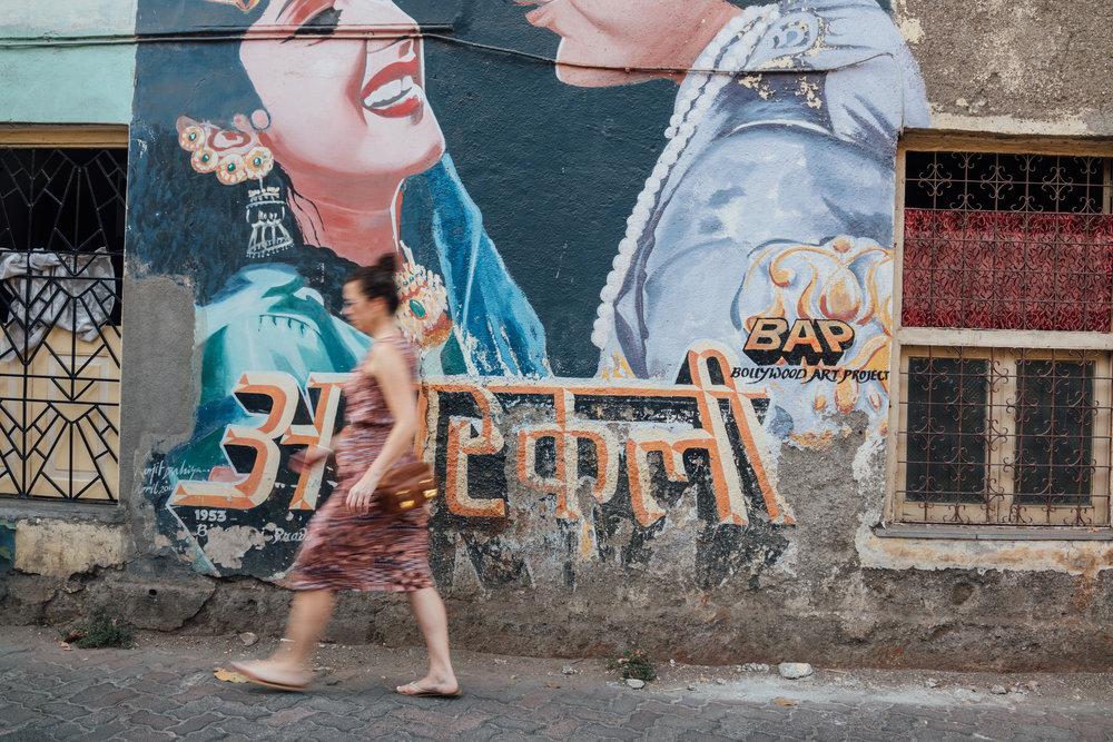 The streets of Bandra in Mumbai, India